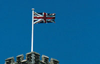 Image of the Union Jack at Dover Castle
