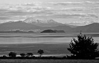 Black and White image of Mount Ruapehu
