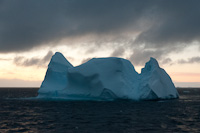 Image of an Iceberg at Dusk